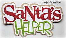 Craftecafe Xmas Santa Elf Title paper piecing premade scrapbook page diecut