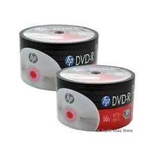 200 Pack HP Brand Logo Blank 16x DVD-R DVDR Recordable Disc Media Shrink Wrap