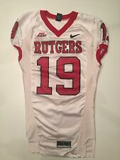 2006 Nike Rutgers Scarlet Knights Game Worn Used Big East Football Jersey #19