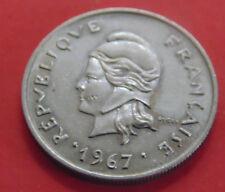 MONNAIE DE    10 FRANCS 1967.     POLYNESIE FRANCAISE