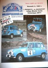 NEW DECAL 1.43 - RENAULT 4 - RAGNOTTI - RALLYE MONTE CARLO VHRS 2011