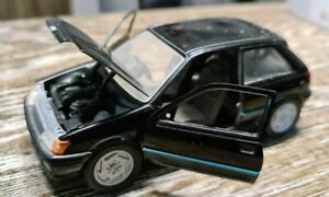 Schabak Ford Fiesta die cast model in Black  1:25. See Photos. Free UK postage.
