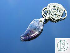 Piedras preciosas Fluorita multi ala de ángel Colgante Collar de piedra de curación natural Chakra