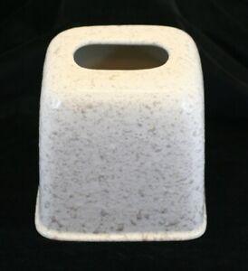 "Nova Designs Fine Ceramics Tissue Box Cover Light Brown Stand Up 6 x 6 x 6""  EUC"