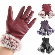 Women Winter Touch Screen Gloves Windproof Waterproof Lambskin Leather Snow Warm