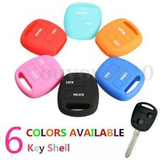 2 Buttons Silicone Shell Remote Key Fob Case Cover For Toyota Rav4 Echo Yaris