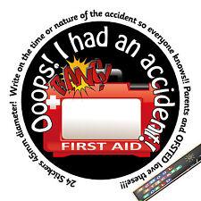 School first aid sticker. big enough for a time/date/note! teacher reward