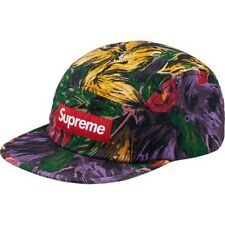 6c0ce79678f Size  One SizePattern  Floral. SUPREME Painted Floral Camp Cap Purple Olive  box logo tnf F W 17