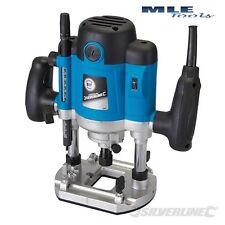 "Silverline DIY 1500W 1/2"" Plunge Router power tool 50mm depth woodwork 264895"