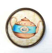 Tea Lover Tea Pot New Boho Teapot Brooch Vintage Style Pin/Badge Antique Bronze