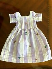Brand New Retired American Girl Felicity Purple Meet Dress