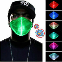 Waterproof 7Color LED RGB Light up Face Mask Glowing Luminous Party Halloween