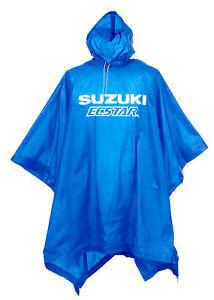 Rain Poncho Blue Bicycle Bike Waterproof Raincoat Cover Cape & Hood Cycling