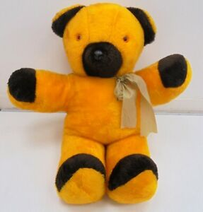 """Vintage Teddy Bear Large Sooty Yellow and Brown Bear 34"""" Tall Collectable"""
