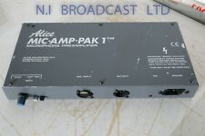 Alice Mic Amp Pak 1 pre amplifier unit  with gain control also,