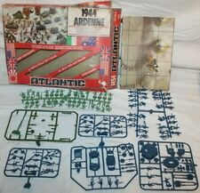 RARE 1944 ARDENNE BATTLE OF THE BULGE WWII Model Kit HO Scale w Box/Map~ATLANTIC