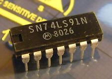 10x SN74LS91N 8bit Shift Register, Motorola