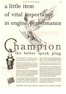 1930 The Champion Spark Plugs Company Toledo Ohio Windsor Ontario Print Ad