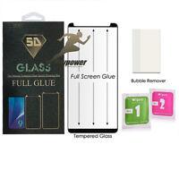 5D Gorila Friendly FULL GLUE SCREEN TEMPERED GLASS For Samsung Galaxy S8-BLACK