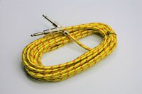 20ft Braided Vintage Style Tweed Electric Guitar/Bass Instrument Cable Chord