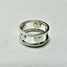 Tiffany & Co Hearts Elements Cutout Ring - Vintage, Rare, Sterling Silver Sz 6