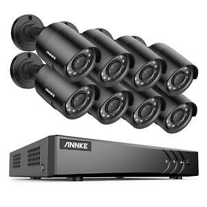 ANNKE 8CH 5MP Lite DVR 1080P CCTV Outdoor Security Camera System IR Night Vision