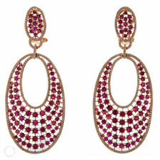Orecchini con diamanti rosso colore fantasia