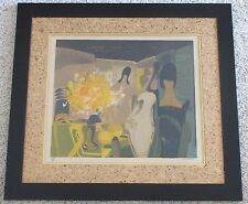 ALFRED DEFOSSEZ LISTED VINTAGE MID CENTURY MODERN FRENCH ABSTRACT LITHOGRAPH