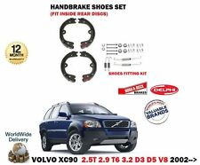 FOR VOLVO XC90 T6 D3 D5 V8 3.2 2002-> REAR AXLE HAND BRAKE SHOES and FITTING KIT