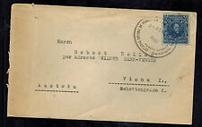 1933 Puerto Cabello Venezuela Cover to Vienna Austria Tecuye oil Fields
