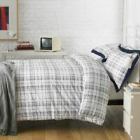 LUXURY DUVET COVER SETS BLUE LANGLEY QUILT BEDDING SET SINGLE DOUBLE KING SUPER