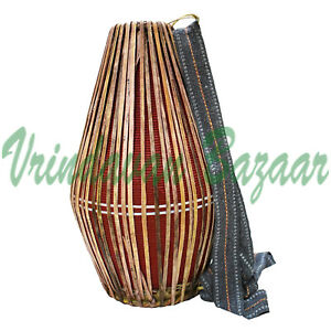 New Red Professional Mridangam/ khol made of Clay with free cloth cover