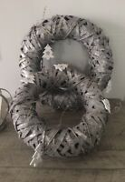 Christmas Wreath Birch Silver Glitter Christmas Tree Decoration Large and Small
