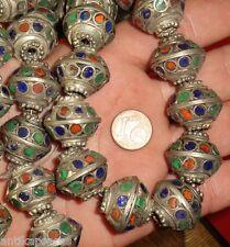 2 Perles Ethnique Metal Biconique Maroc 22mm Tribal Ethnic Tribal Bead Morocco