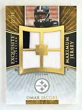 2006 Exquisite Collection OMAR JACOBS Rookie Maximum Jersey Gold /35 Steelers