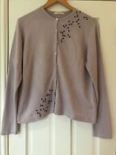 Marks and Spencer Cardigan Lavender Purple Size 18 Long Sleeve Embelishment