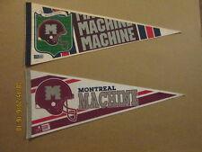 World LG. Montreal Machine Lot of 2 Football Pennants