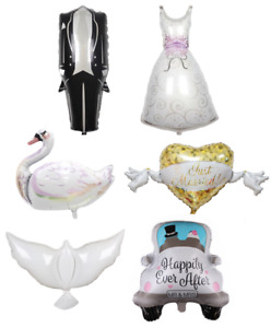 Wedding Dress Suit Bride Groom Engagement Party Anniversary Marriage Balloon