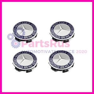 Genuine Mercedes-Benz Center Hub Cap Wheel Cap Blue 17140001255337 Set Of 4 OEM