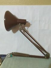 Vintage Mid Century Architects Brown Drafting Swing Arm Desk Lamp-NO BASE