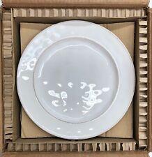"NEW Pottery Barn Cambria Stoneware 10.75"" Small Dinner Plates~SET OF 4~Stone"