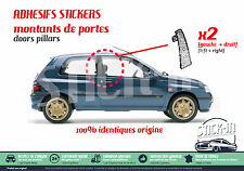 Renault Clio Williams 16S Montants Portières Doors Pillars Stickers Autocollants