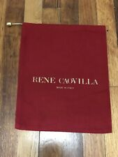 "Rene Caovilla Red Organza Dust Bag for Boots/Shoes Storage Travel Bag 12.5"" x10"""