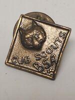 Vintage Original Cub Scouts BSA Wolf Rank Insignia Pin