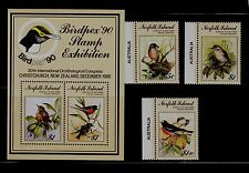 Norfolk Isl Sc 497-500 NH Set+S/S of 1990 - Birds