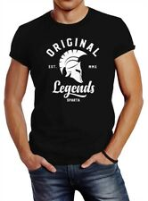 Herren T-Shirt Original Legends Gladiator Sparta Streetwear Slim Fit Neverless®