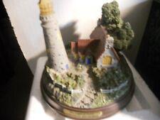 Thomas Kinkade Seaside Memories Lighted Lighthouse-Light Of Peace-Free Shipping