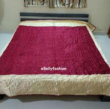 Royal jaipur Multi-Purpose Satin  Quilt  Designer Soft Multi color Hand Made