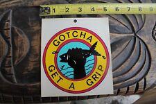 GOTCHA Get A Grip Catch Fish Fishing Surfboard Neon Vintage 80's Surfing STICKER