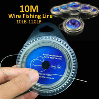 JW_ HK- JF_ 10M 7 Strands Braid 10LB-120LB Stainless Steel Wire Strong Fishing